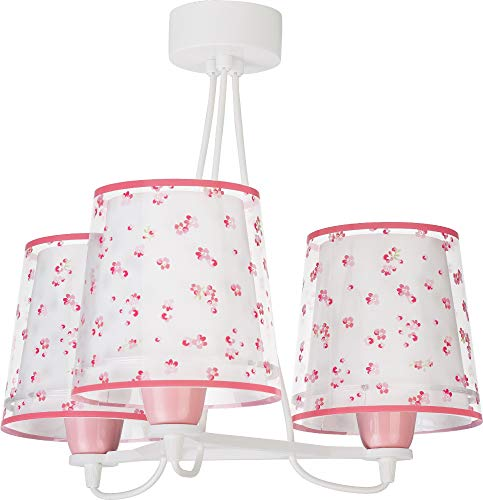 Dalber Dream Flowers Lámpara Infantil de Techo 3 Luces Flores, 60 W,...