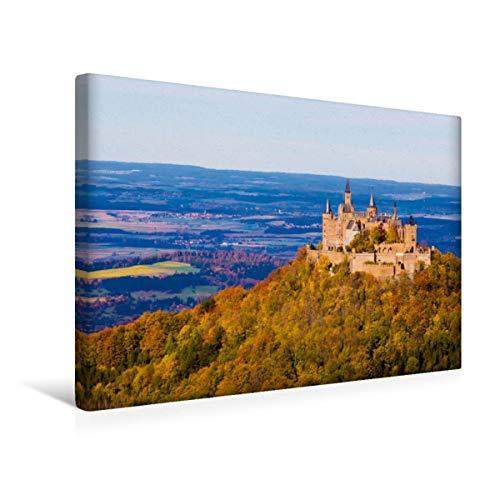 CALVENDO Premium Textil-Leinwand 45 x 30 cm Quer-Format Burg Hohenzollern bei Hechingen, Leinwanddruck von Werner Dieterich