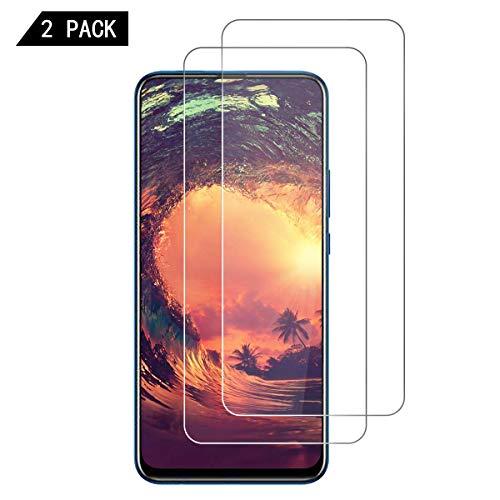 HDNIU P Smart Z Panzerglas(2 Stück), [9H Härtegrad] [Blasenfrei] [Anti-Kratzen] Panzerglasfolie, Ultra Klar Schutzfolie Displayschutzfolie Folie für Huawei P Smart Z