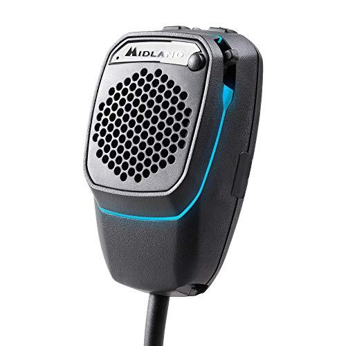 Midland Dual Mike 4-pins V2, Bluetooth en CB microfoon, compatibel met CBTalk app, met 4-pins V2-aansluiting, DSP-signaalprocessor, handsfree installatie