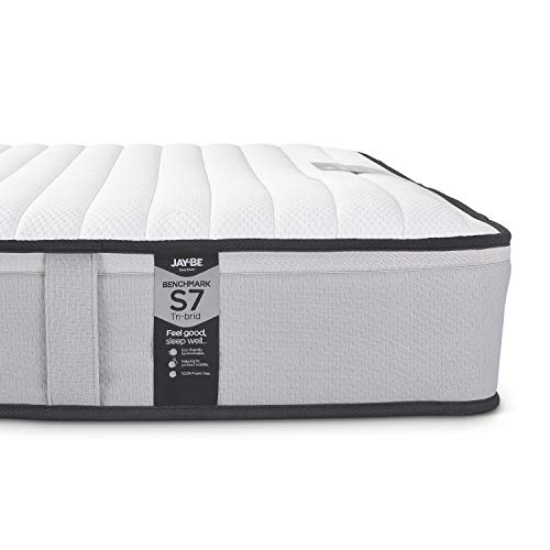 JAY-BE Benchmark S7 Tri-brid Eco Friendly Mattress, Foam Free, Single
