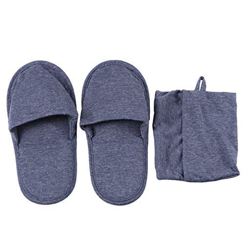 FENICAL Zapatillas de viaje plegables Zapatos Parejas Zapatillas de algodón Portátiles Hotel Zapatillas (Gris)