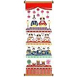 Airashika(あいらしか) 和雑貨 注染手ぬぐい『雛祭り』 雛壇 33×90cm 角型 タペストリー棒付き ナチュラル