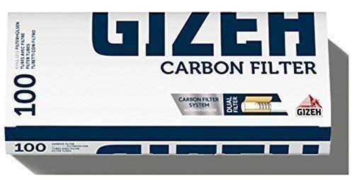 500 (5x100) GIZEH Carbon Filter (Hülsen, Filterhülsen, Zigarettenhülsen)