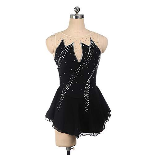 GXLO Costume de Patinage Artistique, Justaucorps de Gymnastique, pour Les Filles à Manches Longues Gradient Couleurs Scintillant chantage Danse de Ballet de Ballet Gymnastique athlétique,S