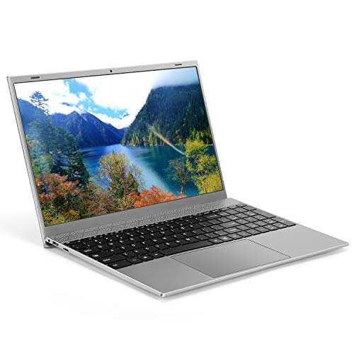 Laptop 15.6 inch (Intel Celeron J4115 CPU Quad Core 8GB RAM 128GB SSD 1920x1080 FHD Display Windows 10 Pro Pre-installed) Ultra Slim Notebook with Webcam WiFi Mini HDMI Independent Numeric Keypad Grey
