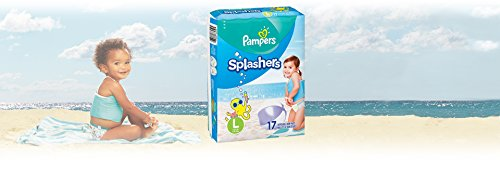 Product Image of the Swim Diapers Size 5 ( 31 lb) - Pampers Splashers Disposable Swim Pants, Large,...