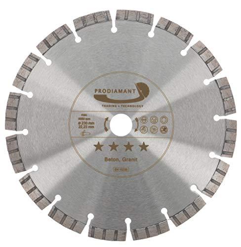PRODIAMANT Premium diamantdoorslijpschijf beton laser 230 mm x 22,2 mm diamantdoorslijpschijf PDX821.711 230mm passend haakse slijper