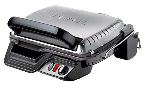 Tefal Ultra Compact 600 Comfort GC3060 Parrilla Eléctrica De Doble Cara, 2000 W, Acero Inoxidable/Aluminio, Plateado/Negro