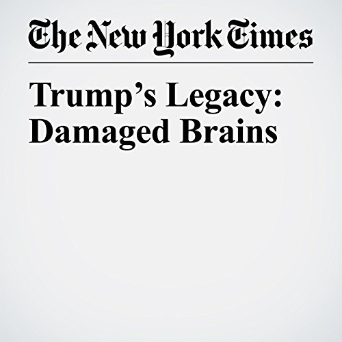 Trump's Legacy: Damaged Brains copertina