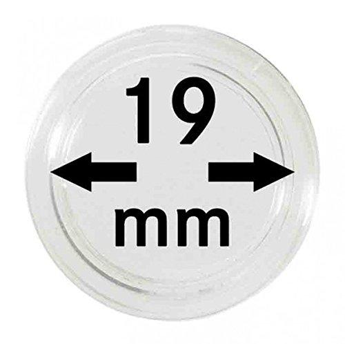 LINDNER Das Original Capsules Monnaies Ø intérieur 19 mm, Paquet de 10