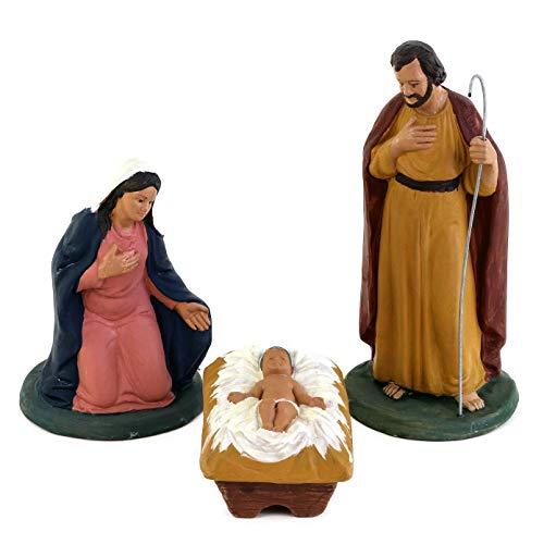 Weihnachtskrippe aus Terrakotta, Krippenfiguren aus Keramik von Caltagirone, Geschenkidee zu Weihnachten