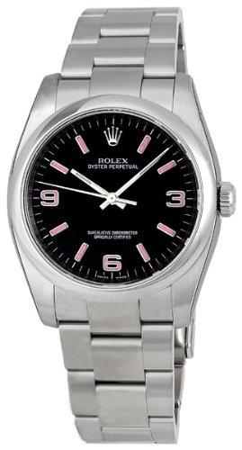 Rolex no data nero arabo quadrante a cupola lunetta ostrica bracciale mens...
