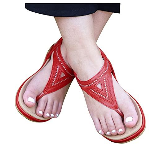 Tongs pour femme, plats, loisirs, couleur unie, tissu doux, confortable, séparateur d'orteils, sandales d'été, sandales de bain légères et antidérapantes, grande taille