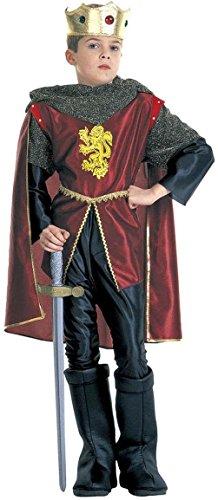 Widmann-37108 Costume da Re Guerriero-Cavaliere Reale 11/13 Anni, Oro,Bordeaux, XL, SA-37108