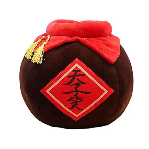 Peluche 40cm Vaso da vino Cuscino da tiro Simpatico peluche Kawaii Gioco Anime intorno alla bambola di pezza Decorazione del divano di Natale