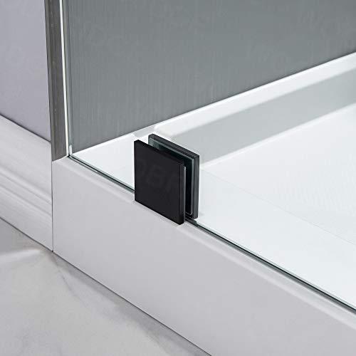WOODBRIDGE MBSDC6062-MBL Frameless Bathtub Shower Doors 56-60