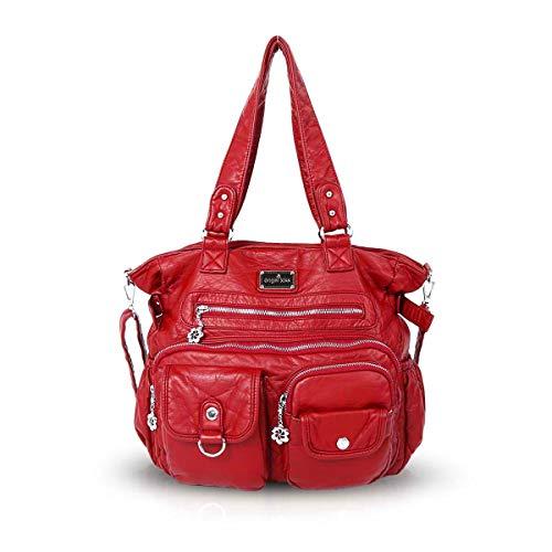 NICOLE & DORIS Donna Borsa a tracolla borsa hobo borse a tracolla multitasche Rosso