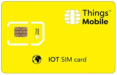 SIM IoT GLOBAL Things Mobile con copertura globale e rete multi-operatore GSM 2G 3G 4G LTE, senza costi fissi, senza scadenza e tariffe competitive, con 10 € di credito incluso