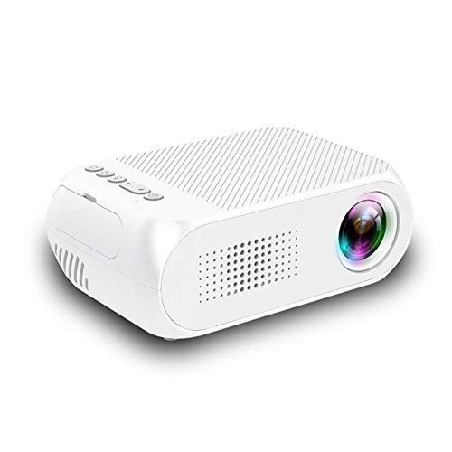 GUCL Proyector, proyector de Cine en casa de Alta definición LCD portátil LED Proyector Mini Proyector de Bolsillo Inicio Media Player Fit para Sony PS4 y Xbox