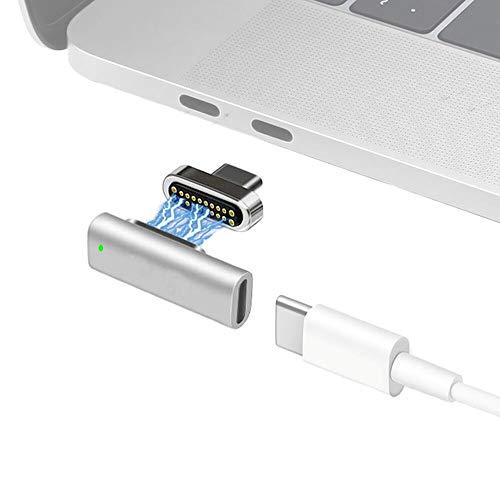 Sisyphy マグネット USB-C to USB-C アダプター、20ピン USB3.1 Gen2 PD 100W急速充電 10Gb/sデータ転送 4k@60Hz映像出力 磁気 Type-C 変換 L字型 Magnetic対応、McbookPro/Airおよびその他のUSB Cデバイス対応