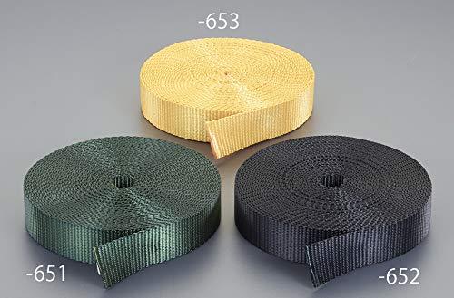 エスコ(ESCO) 荷締機用ベルト(PE製・橙) 25x1.8mm/30m EA628PT-653