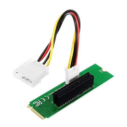 Conjuntos y componentes electrónicos DIY PCIE 1X / 4X Tarjeta de NGFF M.2 M del Adaptador Masculino Clave Ranura PCIE Junta con convertidor