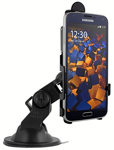 mumbi KFZ Halterung für Samsung Galaxy S5 / S5 Neo / Autohalterung VibrationsFREI / 90° QUERBetrieb möglich
