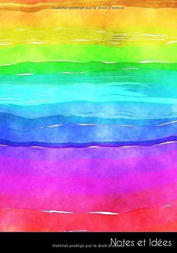Notes et idées: Carnet de notes | carnet de croquis | livre de dessin aquarelle peinture effet de lavage rayures arc en ciel LGBTQ | format A5, blanc. Durable et neutre pour le climat.