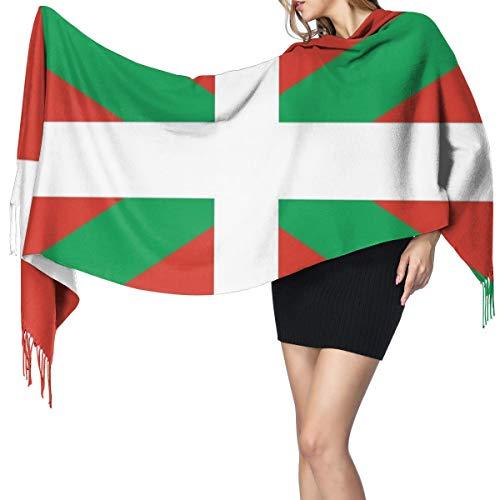 Bufanda Fringe Cachemira de imitación Chal Mujer Bandera del pais vasco Bufanda de invierno de Cálido Grueso Otoño Invierno para hombre