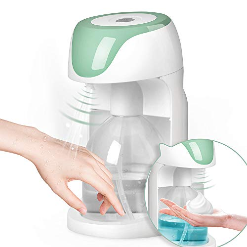 SCIJOY Seifenspender Automatisch und Desinfektionsspender 2 in 1, 500ml Elektrischer Seifenspender Wandbefestigung mit Sensor Infrarot für Küche, WC