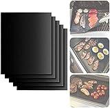 TDOYO Estera para Parrilla de Barbacoa, BBQ Grill 5 Piezas, Reutilizables Estera Antiadherente de Barbacoa, para Horno Auxiliar/carbón/Gas/Grill eléctrico/cocción,5 pcs