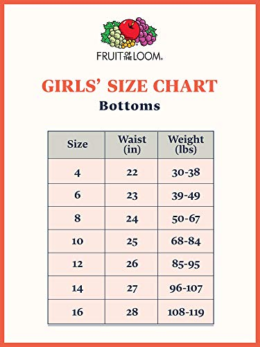 Fruit of the Loom Girls' Little Cotton Brief Underwear, 14 Pack - Fashion Assorted, 6