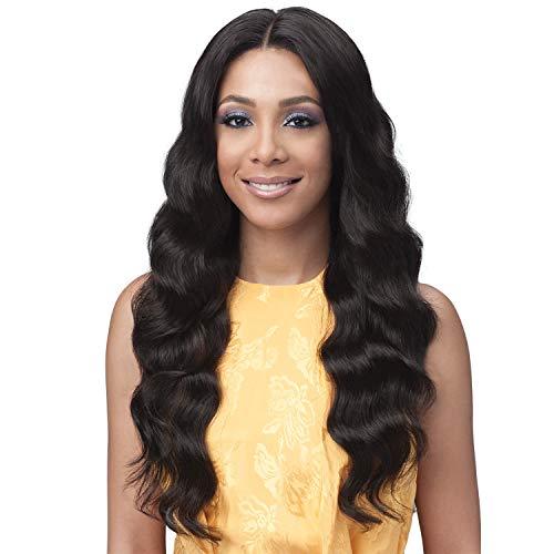 "Bobbi Boss Unprocessed Virgin Remy Human Hair Full Lace Bundle Hair Wig Ocean Wave (28"", NATURAL)"