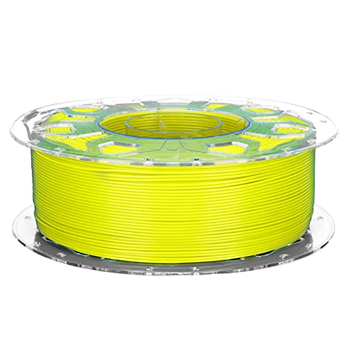 3D Printer PLA Filament, Low Shrinkage High Toughness 1.75mm Printing Supplies Accessories Compatible with All 3D Printers(Yellow)