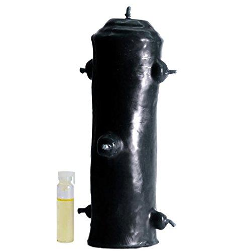 Candle Art VELÓN 7 MECHAS, Torpedo esotérico. Romper Trabajos de Magia Negra. Color Negro, Cera de Abeja con Plantas, Ritualizada. Medidas. Medidas. Alto: 18 cm. Peso: 0.400 Kg