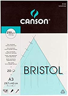 Canson Drawing book Bristol, 20 A3 papers, 250g