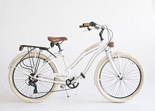 Via Veneto Bicicletta Cruiser Donna Made in Italy (Bianco)