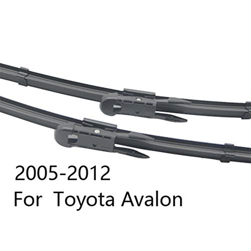 Windscreen Wiper Blade Wiper Blades for Toyota Avalon Fit Pinch Tab Arms/Hook Arms Model Year from 2000 to 2018 (Color : 2005-2012)
