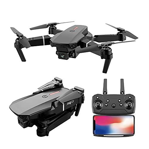 Drone Pieghevole Con Fotocamera Per Adulti, Rc Quadcopter Professional E525 Pro Mini Drone Con Fotocamera 4k Hd Grandangolare Fpv Video Live Video E 1 Batterie Drone Per Principianti