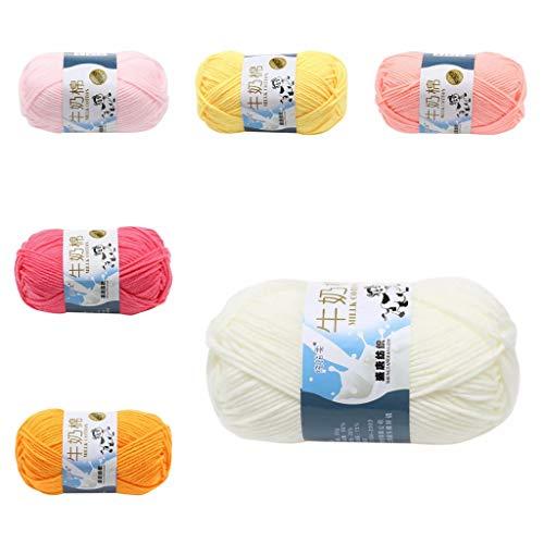 Chezaa Yarn for Crocheting, Soft Yarn 1.76 Ounce(50g) Bulky Colorful Yarn Skeins for Knitting Needle Crochet Yarn Baby Blankets DIY Gifts Starter Kit