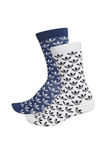 adidas Originals Socken Doppelpack THIN CR SOCK GR FM0679 Weiss Dunkelblau, Size:43/46