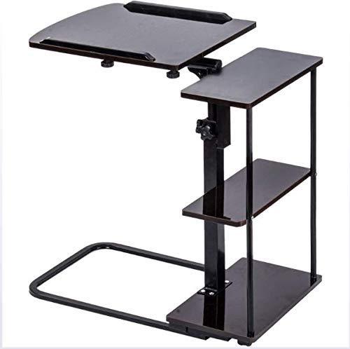 LIPENLI Laptop Desk regolabile altezza, Divano Tavolino di servizio, con scaffali Carrello for laptop, servitore Tabella