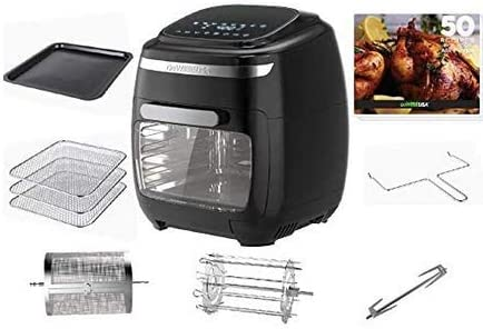 GoWISE USA 11 6 Quart Air Fryer Oven with Rotisserie and Dehydrator Functions 8 Piece Accessory product image