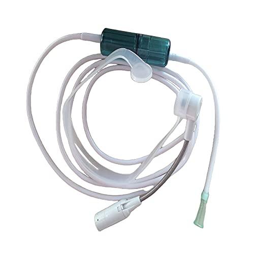 F Fityle Tipo de Auricular Cánula Nasal de Oxígeno Tubo de Silicona de 200 Cm de Longitud para Salidas de 8 Mm