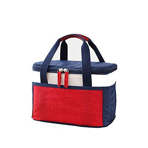 LXMBox Kühltasche Isolierte Kühltasche für das Mittagessen für Erwachsene/Männer/Frauen/Kinder, wasserdicht, auslaufsicher, weiche Kühltasche Thermische Bento-Box für Arbeit/Schule/Outdoor