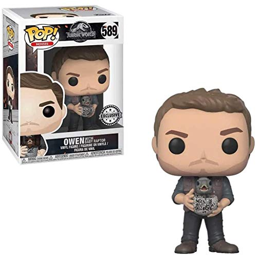 Funko Pop Movies : Jurassic Park 2 - Owen with Baby Raptor (Target Exclusive) 3.75inch Vinyl Gift for Movies Fans SuperCollection