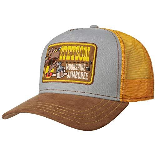 Stetson Moonshine Jamboree Trucker Cap Herren - One Size (55-60 cm) - Verstellbare Mesh Cap - Baseballcap mit Futter aus 100% Baumwolle - Snapback mit Netz Sommer/Winter gelb One Size