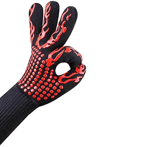 AiongOven Gloves,Temperature Resistance Oven Mitts 500 800 Degrees Fireproof Barbecue Heat Insulation Microwave