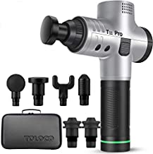TOLOCO Massage Gun - T11 Pro Upgraded Handheld Muscle Deep Tissue Muscle Massager, Body Massager Sports Drill Portable Super Quiet Brushless Motor (Silver)